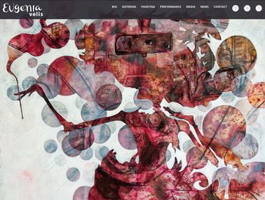 sitio web de artista