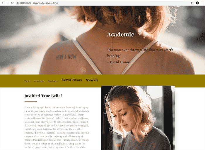página de internet | blog personal