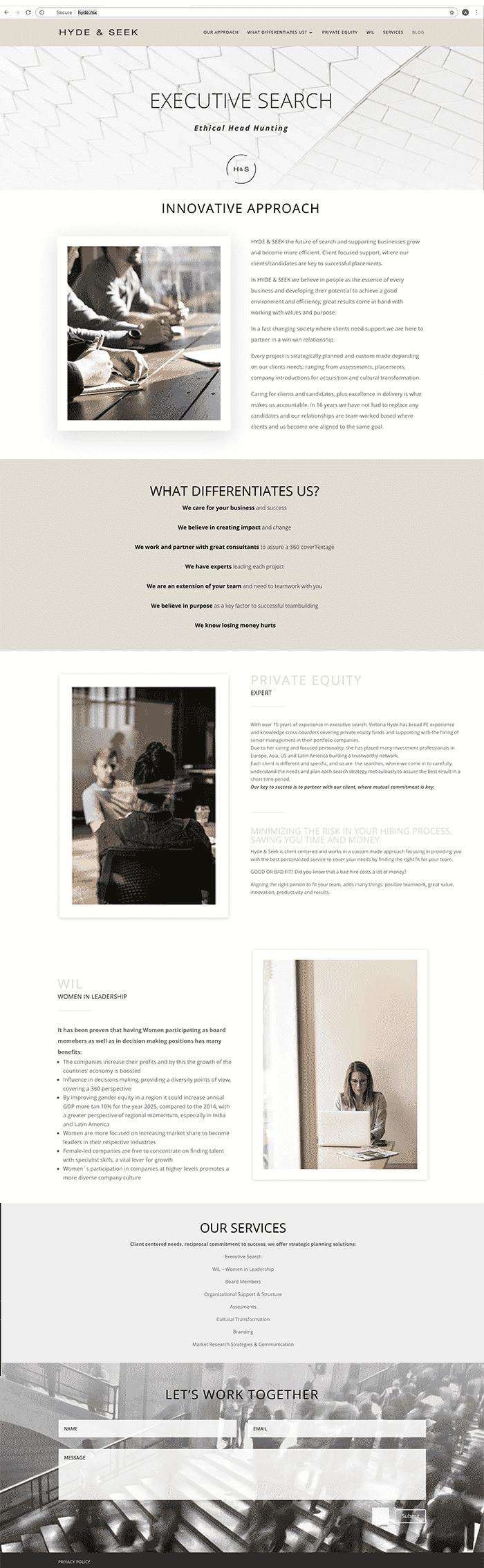 diseño de sitio web One Pager